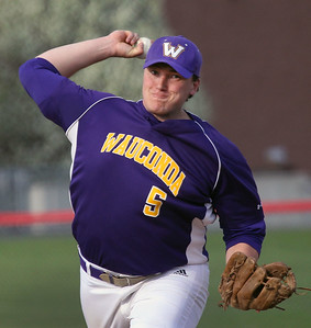 Candace H. Johnson-For Shaw Media Wauconda's Jake Harmon delivers a pitch against Grant in the fourth inning at Grant Community High School in Fox Lake. Wauconda won 9-3.