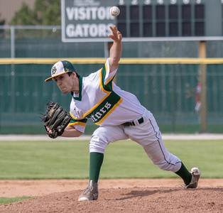 Crystal Lake South's Riley Tannhauser was the starting pitcher Thursday, May 17, 2018 against Cary-Grove in Crystal Lake. Cary went on to win 12-5. KKoontz – For Shaw Media