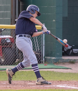 Cary-Grove's Steven Calamari hits a RBI single in the top of the third Thursday, May 17, 2018 against Crystal Lake South in Crystal Lake. Cary went on to win 12-5. KKoontz – For Shaw Media