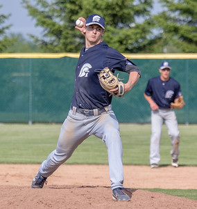 Cary-Grove starting pitcher Quinn Priester threw four shutout innings Thursday, May 17, 2018 against Crystal Lake South in Crystal Lake. Cary went on to win 12-5. KKoontz – For Shaw Media