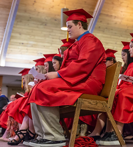 A 2018 Faith Lutheran graduate goes over his speech Friday, May 18, 2018 in Crystal Lake.  KKoontz for Shaw Media