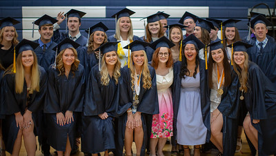 Students from Cary-Grove High School pose for photos before the graduation ceremony Saturday, May 19, 2018 in Cary.  KKoontz- For Shaw Media