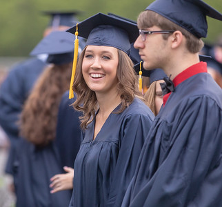 A student from Cary-Grove High School during the graduation ceremony Saturday, May 19, 2018 in Cary.  KKoontz- For Shaw Media