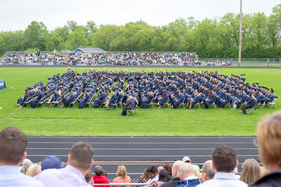 The class of Cary-Grove High School class of 2018 during the commencement ceremony Saturday, May 19, 2018 in Cary.  KKoontz- For Shaw Media