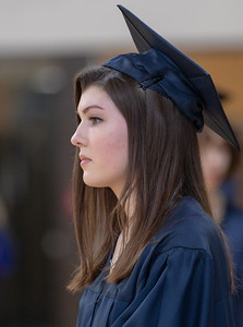 A student from Cary-Grove High School looks on as students ready themselves for the graduation ceremony Saturday, May 19, 2018 in Cary.  KKoontz- For Shaw Media