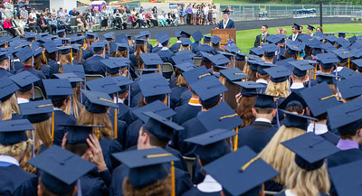 A student addresses the class of Cary-Grove High School class of 2018 during the commencement ceremony Saturday, May 19, 2018 in Cary.  KKoontz- For Shaw Media