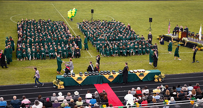 Crystal Lake South graduates receive their diplomas on Saturday, May 19, 2018 in Crystal Lake, Illinois. John Konstantaras photo for Shaw Media