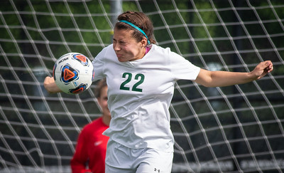 Crystal Lake South's Sofia Liszka defends the goal early in the second half of the 2A Rochelle Sectional final game on Friday, May 25, 2018. CLS lost the game 3-1. Randy Stukenberg for Shaw Media