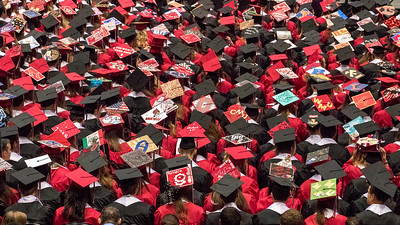 Sam Buckner for Shaw Media. Huntley Graduates during the commencement ceramony on Saturday May 26, 2018.