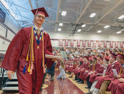 A graduate of Richmond-Burton's class of 2018 after receiving his diploma Sunday, May 27, 2018 in Richmond.  KKoontz – For Shaw Media