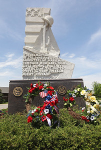 Candace H. Johnson-For Shaw Media Memorial wreaths were placed at the Gurnee Memorial at 100 N. O'Plaine Road in Gurnee during the annual Memorial Day Ceremony.(5/28/18)