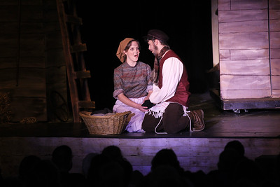 "Candace H. Johnson-For Shaw Media Golde (Maggie Bodo) and Tevye (Mark May) sing ""Do You Love Me?"" during Fiddler on the Roof at Carmel Catholic High School in Mundelein. (4/27/19)"