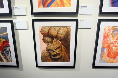 "Candace H. Johnson-For Shaw Media ""The Thing"" gouache painting is on display in the Marvelocity:The Art of Alex Ross exhibit at the Bess Bower Dunn Museum in Libertyville. (5/4/19)"