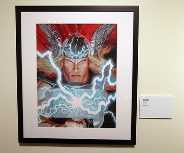 Candace H. Johnson-For Shaw Media A gouache painting of Thor is on display in the Marvelocity: The Art of Alex Ross exhibit at the Bess Bower Dunn Museum in Libertyville. (5/4/19)