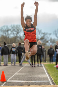 Crystal Lake Central's Serena Miller competes in the long jump at the Class 3A Lake Zurich Girls Track and Field Sectionals Thursday, May 9, 2019 in Lake Zurich. KKoontz – For Shaw Media