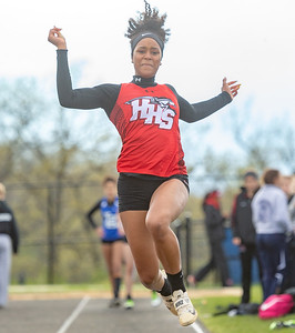 Huntley's Daryn Davis competes in the long jump at the Class 3A Lake Zurich Girls Track and Field Sectionals Thursday, May 9, 2019 in Lake Zurich. KKoontz – For Shaw Media