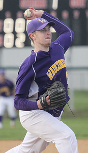 Candace H. Johnson-For Shaw Media Wauconda's Clark Morgan delivers a pitch against Antioch in the fifth inning at Antioch Community High School. Wauconda won 5-3. (5/14/19)