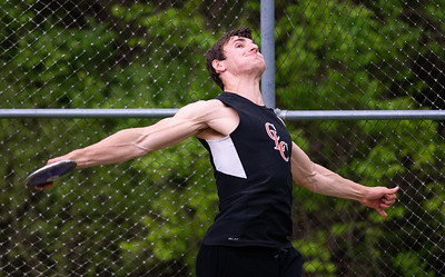 Crystal Lake Central's Jake Munn threw the discus 161 ft -3 inches for second placeat the 3A Boys Sectional Championship Meet at Rockford Guilford High School on Friday, May 17, 2019. Photo by Randy Stukenberg for The NorthWest Herald