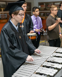 "Crystal Lake Central class of 2019 graduate Bridget Agress performs ""How Far I'll Go"" with other members of the high school band during the Class of 2019 Crystal Lake Central Commencement Ceremony held Saturday, May 18, 2019 in Crystal Lake."