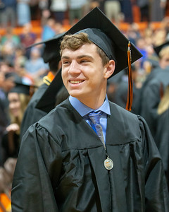 Crystal Lake Central graduate Michael Locascio gives a smile during the Class of 2019 Crystal Lake Central Commencement Ceremony held Saturday, May 18, 2019 in Crystal Lake.