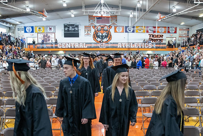 Students file into the gymnasium for the Class of 2019 Crystal Lake Central Commencement Ceremony held Saturday, May 18, 2019 in Crystal Lake.