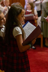 Isabelle Lux sings a hymn with the choir during the service at St. John the Baptist Church in Johnsburg Sunday, May 19, 2019. The church was celebrating the 175th anniversary of the St. John the Baptist School.  KKoontz- For Shaw Media