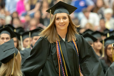 Kylee Lynn Mortimer is called on stage to receive an Honor Society medal during the 2019 Harvard High School Commencement ceremony Sunday, May 19, 2019 in Harvard.