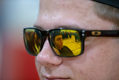 Kevin Dutkiewicz sports some shades in the student assembly area prior to the 2019 McHenry East Commencement Ceremony Wednesday, May 22, 2019 in McHenry.