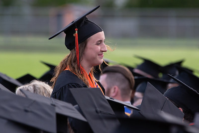 Danielle Gonzaga is recognized during the 2019 McHenry East Commencement Ceremony Wednesday, May 22, 2019 in McHenry. She will be joining the Army following graduation.