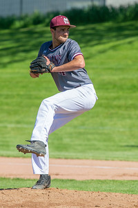 Marengo's Aiden Smith got the start against Richmond-Burton in the first-round sectional game Thursday, May 23, 2019 in Richmond. Richmond went on to win 5-4 and will face Carmel on Saturday. KKoontz – For Shaw Media