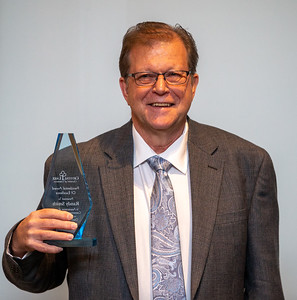 Randy Smith accepts the Presidential Awards of Excellence at the annual Crystal Lake Chamber of Commerce awards dinner Thursday, May 23, 2019 at the Crystal Lake Country Club in Crystal Lake. KKoontz – For Shaw Media