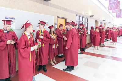 Students line up for the 2019 Richmond-Burton Commencement Ceremony Sunday, May 26, 2019 in Richmond.   KKoontz – For Shaw Media