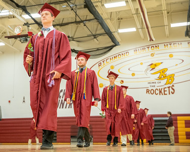 Students file into the gymnasium for the 2019 Richmond-Burton Commencement Ceremony Sunday, May 26, 2019 in Richmond.   KKoontz – For Shaw Media