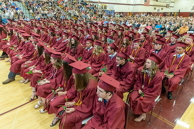 Students listen to speakers during the 2019 Richmond-Burton Commencement Ceremony Sunday, May 26, 2019 in Richmond.   KKoontz – For Shaw Media