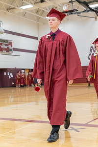 Jeff Jankowski enters the gymnasium for the 2019 Richmond-Burton Commencement Ceremony Sunday, May 26, 2019 in Richmond.   KKoontz – For Shaw Media