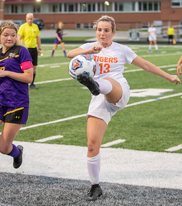 Crystal Lake Central senior Taylor Bittenbender keeps the ball in play in the IHSA Class 2A Supersectional game against Wauconda Tuesday, May 28, 2019 in Grayslake. Wauconda gets the 2-1 win to advance to the State Semifinals. KKoontz – For Shaw Media