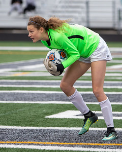 Crystal Lake Central goalkeeper Nora Ryan makes a save against Wauconda in the IHSA Class 2A Supersectional game Tuesday, May 28, 2019 in Grayslake. Wauconda gets the 2-1 win to advance to the State Semifinals. KKoontz – For Shaw Media