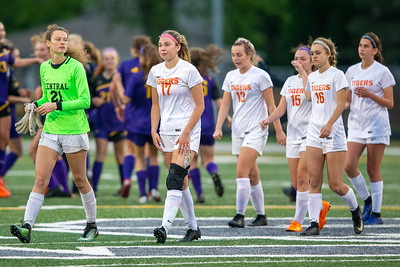 The Crystal Lake Central soccer team leaves the field after they fall to Wauconda in the IHSA Class 2A Supersectional game Tuesday, May 28, 2019 in Grayslake. Wauconda gets the 2-1 win to advance to the State Semifinals. KKoontz – For Shaw Media