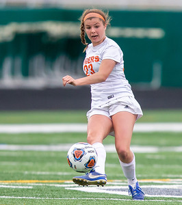 Crystal Lake Central senior Abbey Kramer drives the ball up-field in the IHSA Class 2A Supersectional game against Wauconda Tuesday, May 28, 2019 in Grayslake. Wauconda gets the 2-1 win to advance to the State Semifinals. KKoontz – For Shaw Media