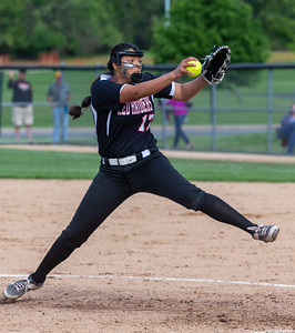 Huntley's Briana Bower took the mound against Barrington in the Class 4A Hampshire Softball Sectional semifinal Wednesday, May 29, 2019 in Hampshire. Huntley gets the victory 6-1 and will face McHenry in an all Fox Valley Conference Sectional final on Saturday, June 1, 2019. KKoontz – For Shaw Media