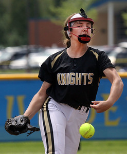 Candace H. Johnson-For Shaw Media Grayslake North's Scout Kram delivers a pitch against Warren in the second inning during the Class 4A regional final at Warren Township  High School. Warren won 4-1. (5/25/19)