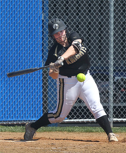 Candace H. Johnson-For Shaw Media Grayslake North's Grace Brown connects on a pitch against Warren in the sixth inning during the Class 4A regional final at Warren Township  High School. Warren won 4-1. (5/25/19)