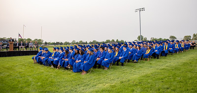 The Johnsburg High School class of 2019 listens to speakers during the commencement ceremony Friday, May 31, 2019 in Johnsburg. KKoontz – For Shaw Media