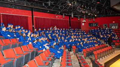 The Johnsburg class of 2019 gets last minute instructions in the school auditorium prior Johnsburg High School Commencement ceremony Friday, May 31, 2019 in Johnsburg. KKoontz – For Shaw Media