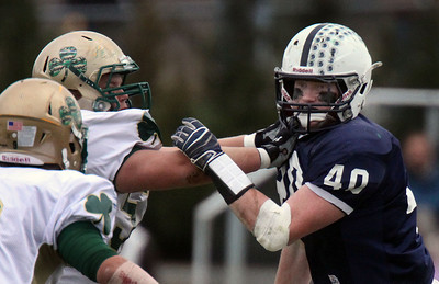 Jeff Krage – For the Northwest Herald Cary-Grove linebacker Brock Bussenger during Saturday's IHSA class 6A second-round playoff game against St. Patrick. Cary 11/3/12