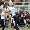 Kaneland's Kyle Pollastrini (6) pulls down the reception against Lincoln-Way West at Lincoln-Way West  in New Lenox , IL on Saturday, November 03, 2012  (Sean King for the Kane County Chronicle)