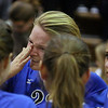 Jeff Krage – For the Kane County Chronicle<br /> Geneva's Maddie Courter wipes away tears Thursday after the Vikings lost to Glenbard West in the IHSA class 3A sectional championship at Larkin High School.<br /> Elgin 11/1/12