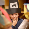 Kindergartner Adam Sargent, dressed as a pilgrim, performs a song with his class at Faith Christian Beginner School in Geneva.
