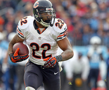 H. Rick Bamman - hbamman@shawmedia.com The Bears' Matt Forte runs for a first down against in the third quarter against the Titans Sunday November 4, 2012 in Nashville.