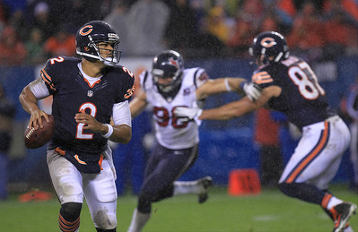 Sarah Nader - snader@shawmedia.com Chicago's quarterback Jason Campbell throws a pass during the fourth quarter of Sunday's game at Sholdier Field in Chicago on November, 11, 2012. The Chicago Bears were defeated, 6-13.